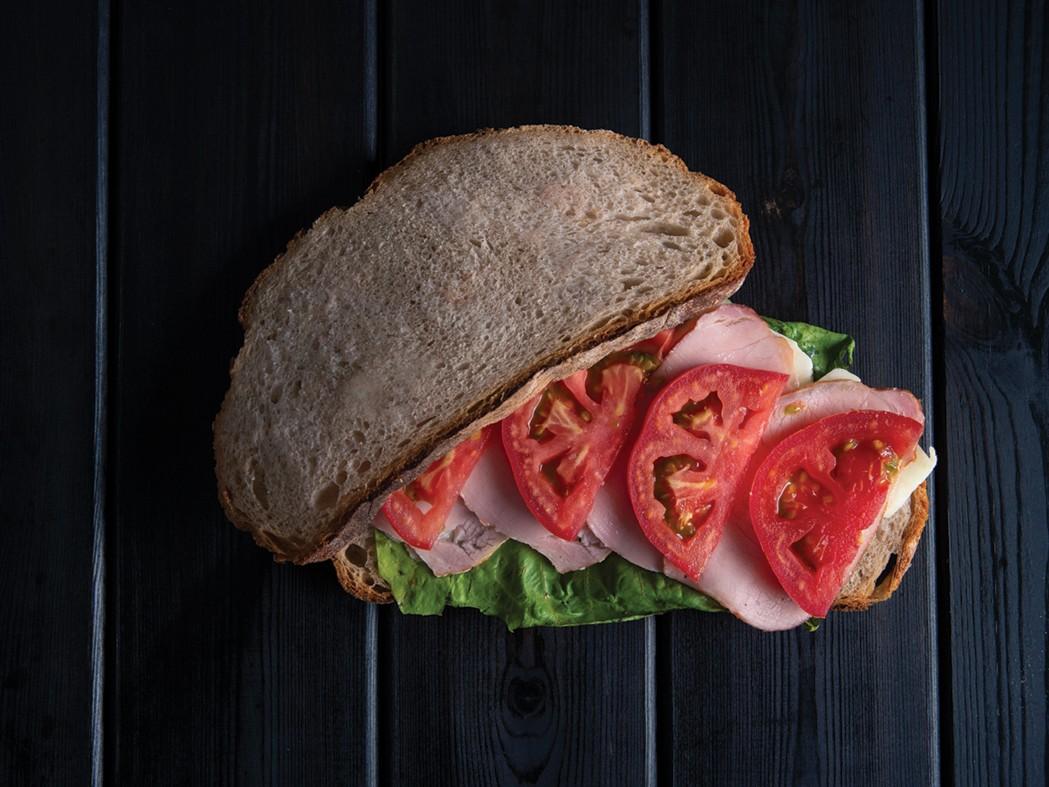 Sandwich Lountza Halloumi