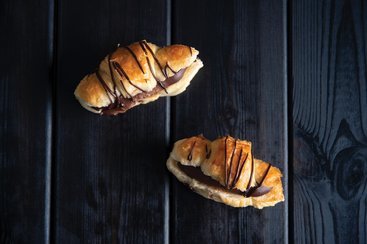 Mini Butter Croissant with chocolate cream
