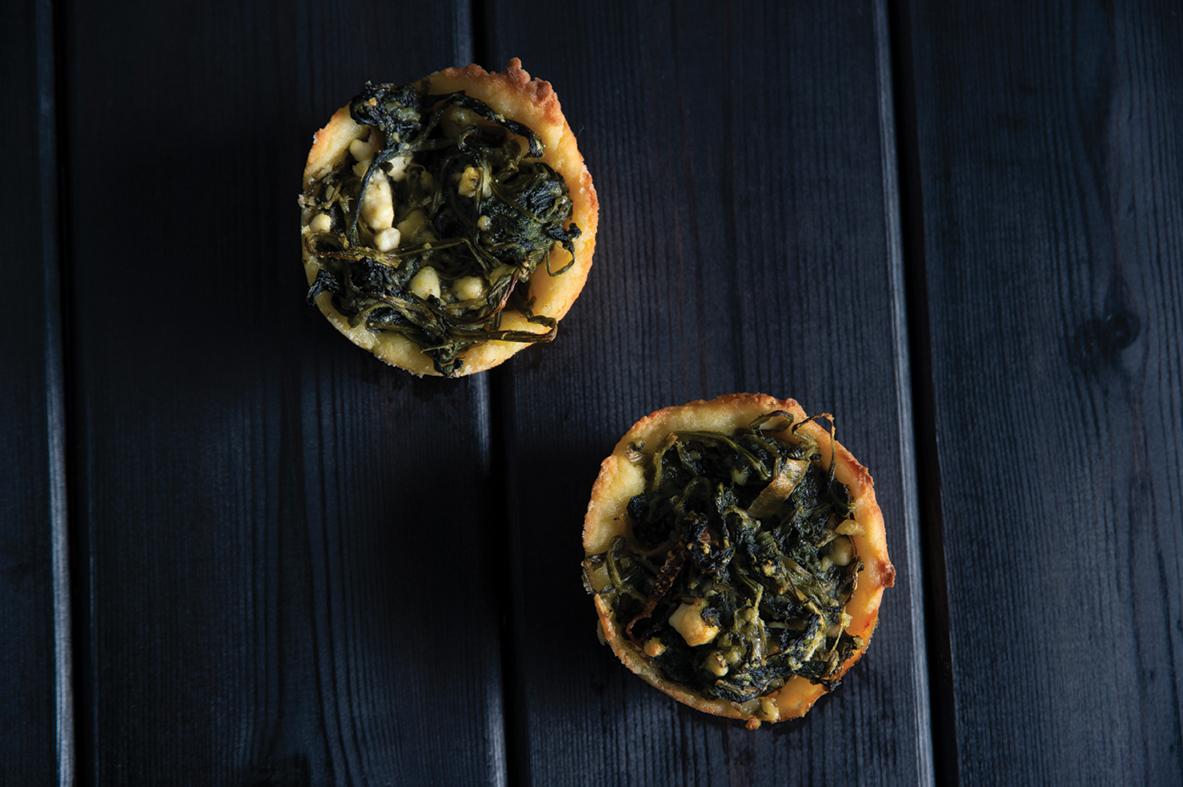 Spinach feta graviera
