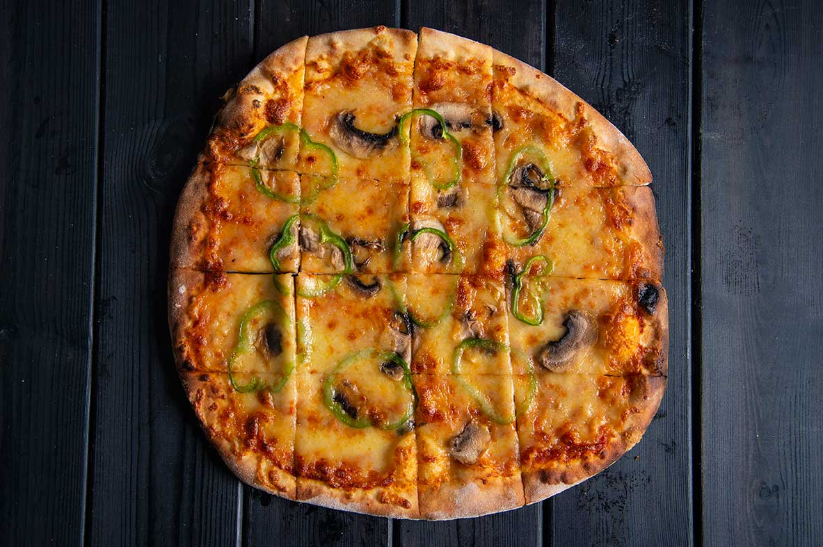 Wood N Fire Veggie pizza healthy vegan