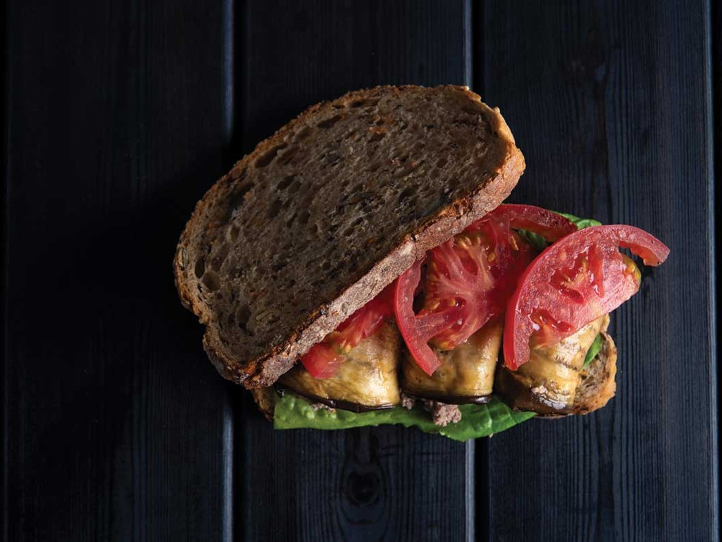 Sandwich Pick-me-up bread eggplant