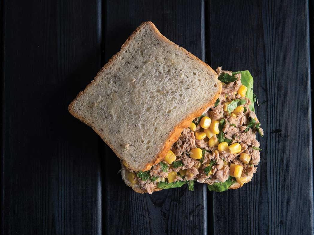 Toast bread with chia seeds tuna